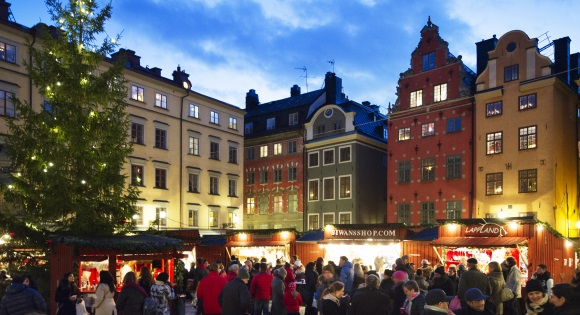 Weihnachtsmarkt in Stockholm - Altstadt