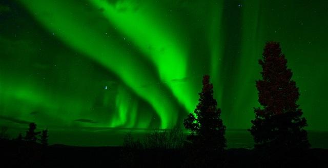 Nordlicht in Schweden